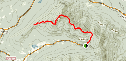 Escarpment Trail to Elm Ridge Shelter Map