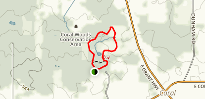 Coral Woods Forest Preserve Loop Map