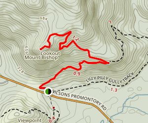 Mount Bishop Track Map