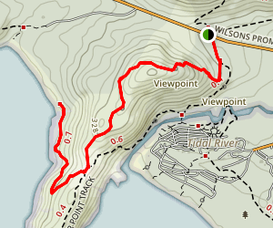 Squeaky Beach Track Map