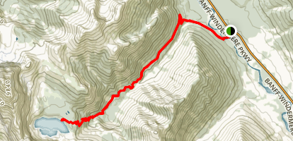 Floe Lake Track Map