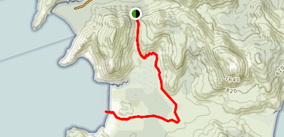 Telegraph Track to Oberon Beach Map