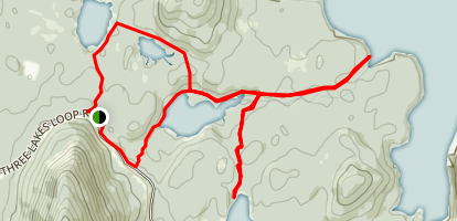 Three Lakes and Ideal Cove Trail Map