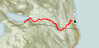 Lower Silvis Lake Trail Map