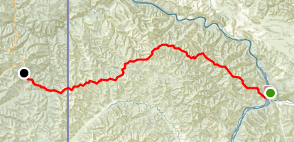Top of the World Highway Map