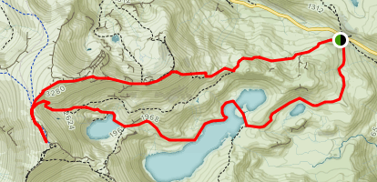 Snowdon Peak Loop Map