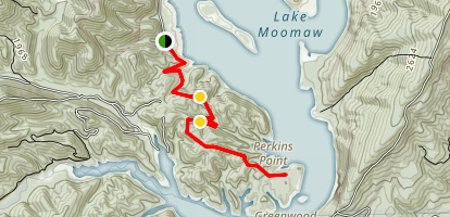 Lake Moomaw Greenwood Point Trail Map