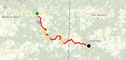 Lower Mountain Fork River Map