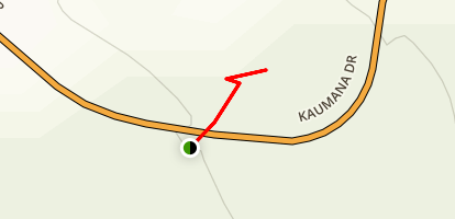 Kaumana Caves Map