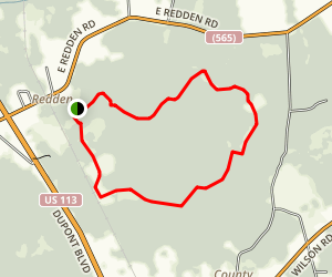 Redden State Forest Loop Map