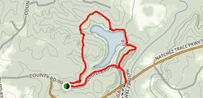 Saddleback Ridge and Flatrock Trail Map