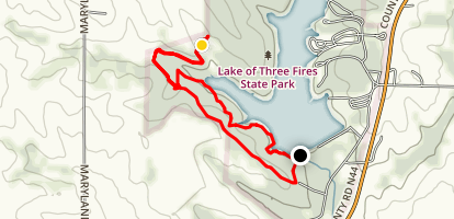 Lake of Three Fires Loop Map