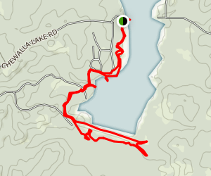 Chewalla Lake Recreation Area Trail Map