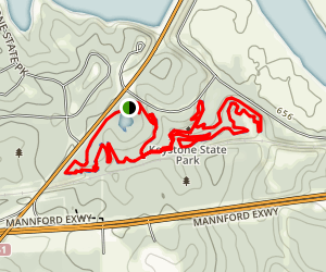 Keystone Lake Walking Trail Map
