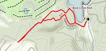 Parilla Path and Gude Loop Trail Map