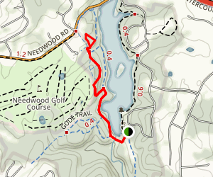 Westside Trail to Lakewood Trail and Dogwood Trail Map