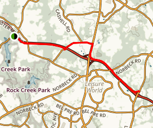 ICC Intercounty Connector Trail Map