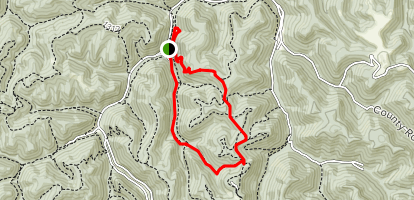 Teaberry Rock Trail to CCC Snipe Trail Loop Map