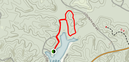 Payne Lake Nature Trail From Westside Campground Map