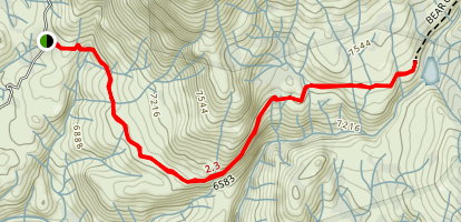Bear Diversion Dam OHV Route Map
