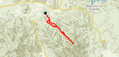 Cerro Grande Trail Map