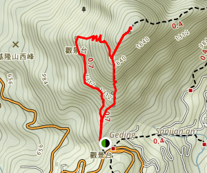 Gold Ecological Park Loop Trail Map