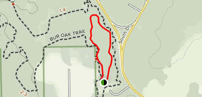Bur Oak Short Loop Trail Map