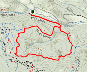 Aspen, Middle Aspen, & Pole Creek Loop Trails Map