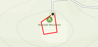 Woodall Mountain - Mississippi Highpoint Map