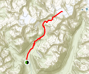 Bomber Glacier and Reed Lakes Map