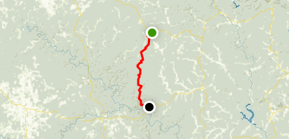 The Ozark Trail: Blair Creek Section Map