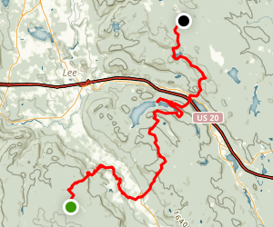 Appalachian Trail: Beartown to Bald Top Map