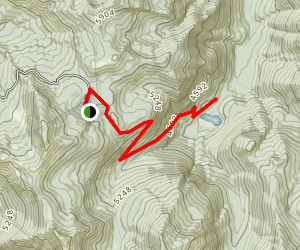 Corral Pass Campground to Hidden Lake Map