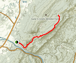 Chestnut Mountain Trail to Iron Gap Map