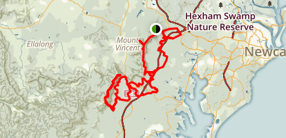 Mount Sugarloaf Lookout to Heaton Lookout Map