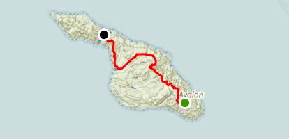 Trans Catalina Trail: Hermit Gulch to Two Harbors Map