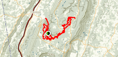 Chattanooga 50 Mile Trail Run Map