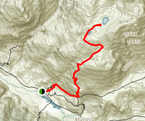 Ice Lakes (Kicho Tal) Trail Map