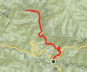 Strawberry Peak Trail via Redbox Canyon Map