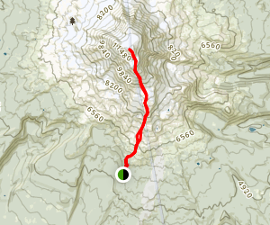 Mount Adams: South Spur and Mazama Glacier Map