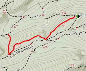 Chicken Peter Trail to Bear Gap Trail Map