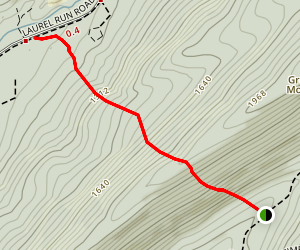 Sand Knob Trail Map
