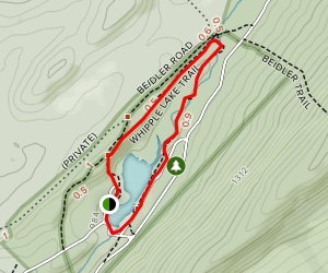 Whipple Dam Trail Map