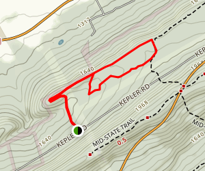 Rockhouse Trail to Bucksaw and Mongo Loop Trail Map