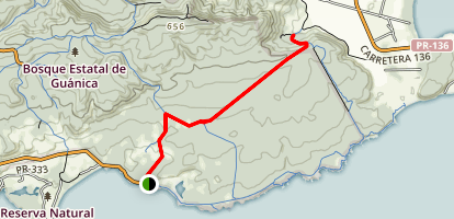 Lluberas Trail Map