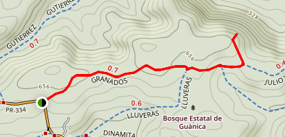 Granados Trail Map