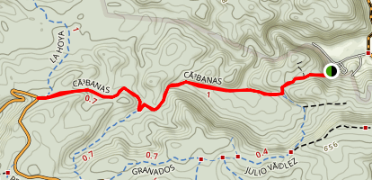 Cabanas Trail Map