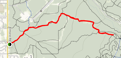 ViewPoint Trail to Moose Meadow Trail to Black Bear Trail Map
