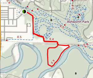 Squirrel's Nest Mountain Bike Trail Map