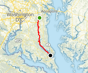Patuxent River: Queen Anne Launch to Johnstown Map